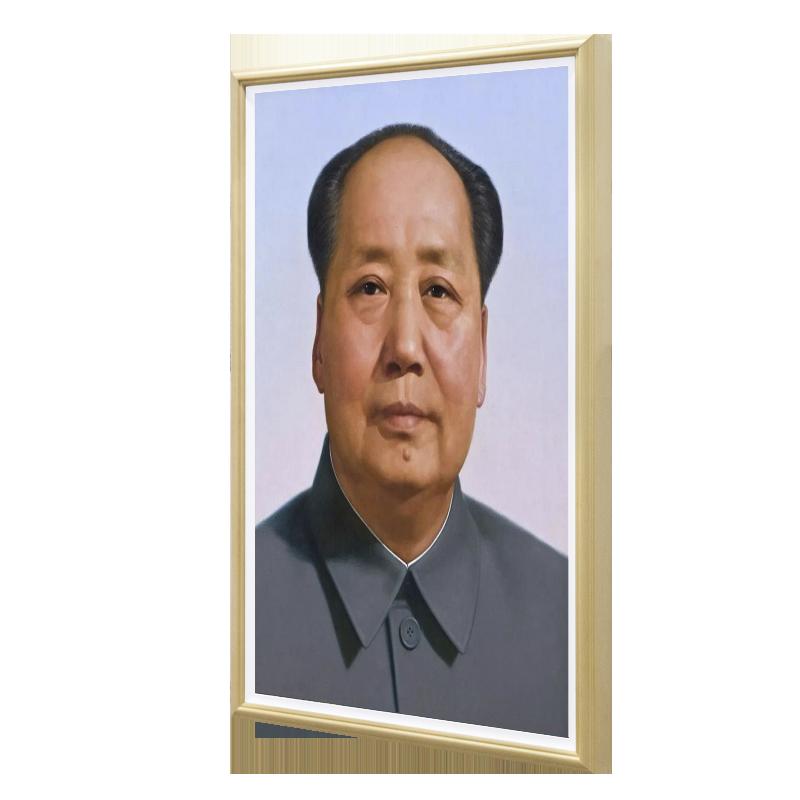 4K画框广告-与毛主席画像的完美匹配